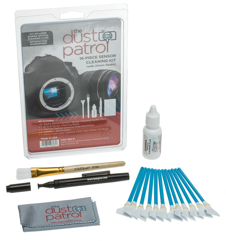 Alpha 20mm Sensor Cleaning Swabs 16pc Kit w/Gamma by The Dust Patrol