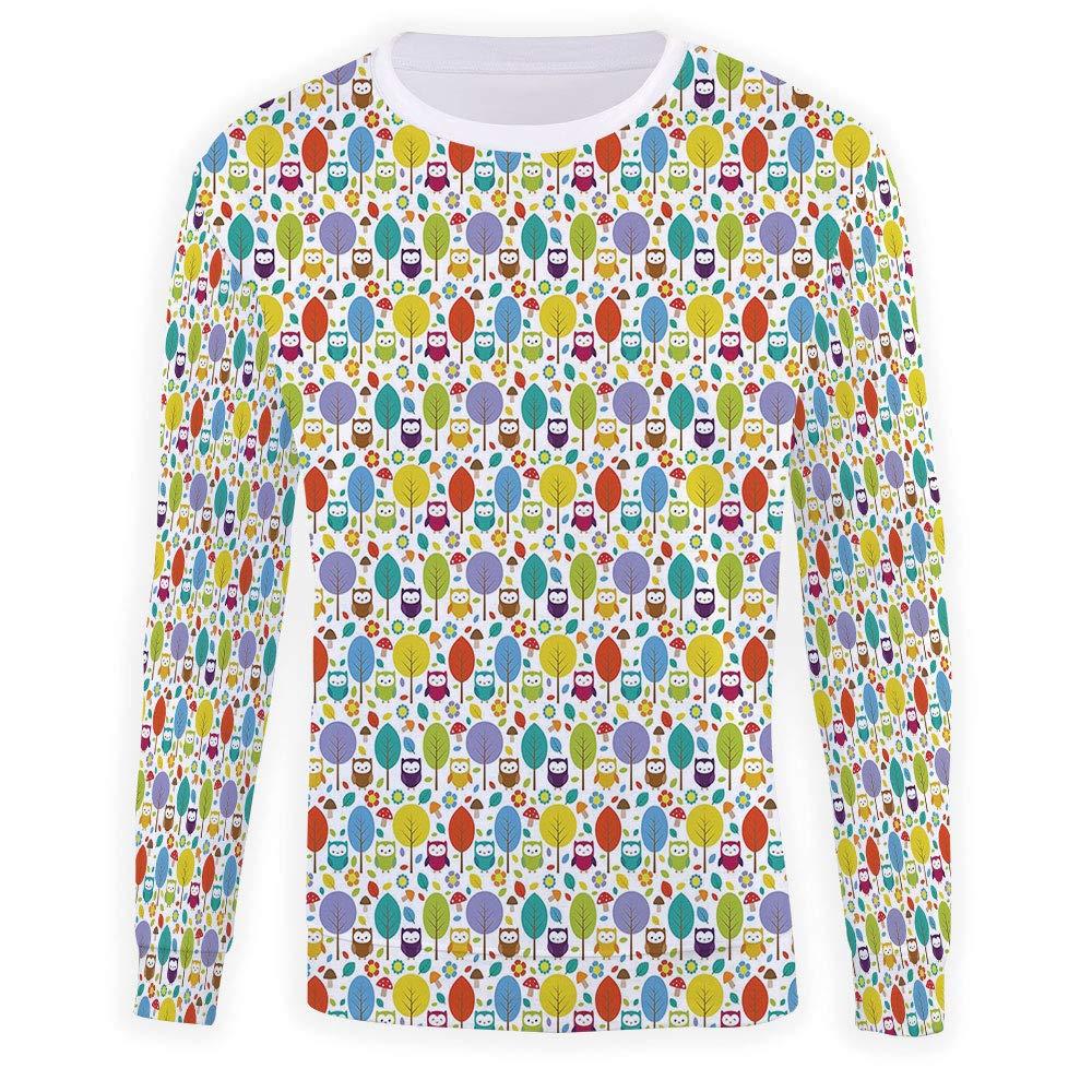 Unisex Owls Sweatshirts Crewneck