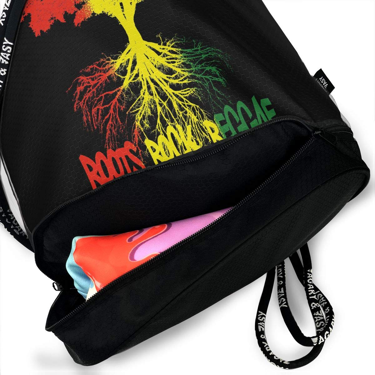 HFTIDBC Endless Summer of Roots Reggae Gym Bags Drawstring Backpack Sackpack