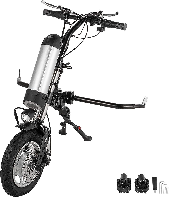 Husuper Handbike para Silla de Ruedas 36V Kit de Conversión de Handbike Eléctrico para Silla de Ruedas 36V Adecuado para Sillas de Ruedas Deportivas Handcycle Silla De Ruedas 36V 250W