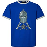 Epic Gamess Camiseta Fortnite Casco y Armas Azule - Camiseta Fortnite Manga Corta Color Azul (Azul, 10 años)