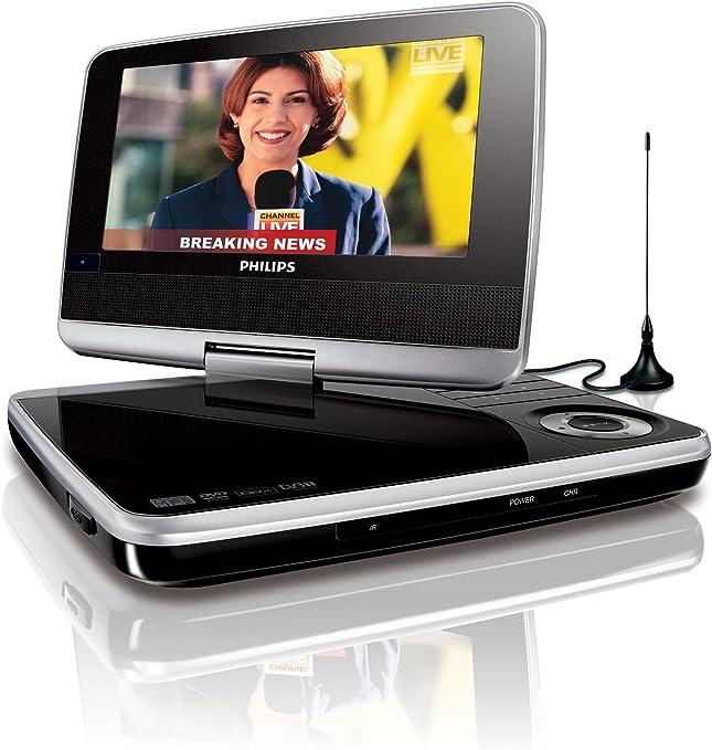 Philips Pet 745 Tragbarer Dvd Player 17 8 Cm 7 Zoll Lc Display Divx Zertifiziert 5 Stunden Akku Dvb T Schwarz Silber Audio Hifi