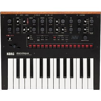 f07d146437c Amazon.com: Korg Monologue Monophonic Analog Synthesizer with Presets-Black  (MONOLOGUEBK): Musical Instruments