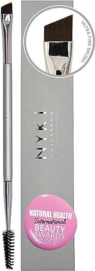 Máxima Precisión Cepillo de Cejas Angular/Cepillo de Pestañas - de NYK1 Dúo Cepillo Perfilador de Cejas y Delineador de Ojos - Cepillo Espiral ...
