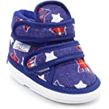 CHIU Chu-Chu Baby Boy's and Baby Girl's Blue Cotton Shoes with Double Strap - 18-21 Months (Size - 6 UK, Foot Length - 14 cm)