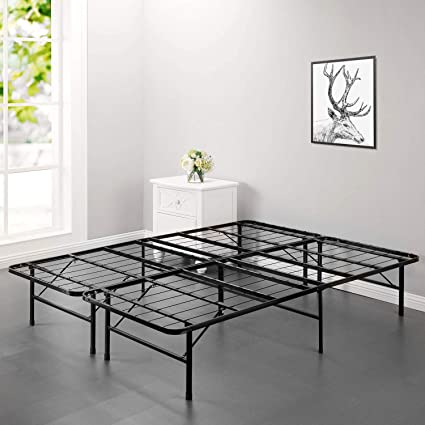 Amazon Com Bed Frame Platform Folding Bed Frame Metal Base Mattress