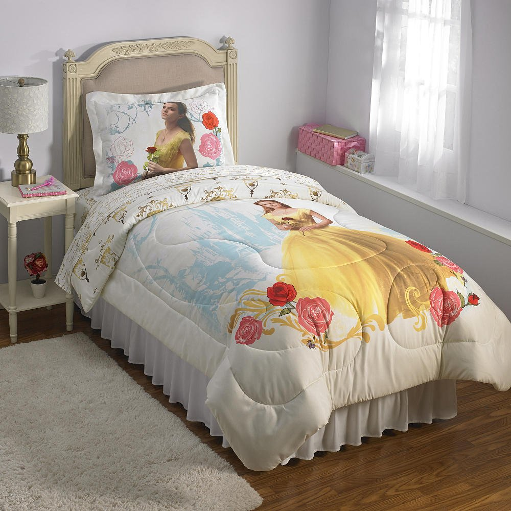 Disney Princess Beauty and the Beast Twin Comforter with Sham
