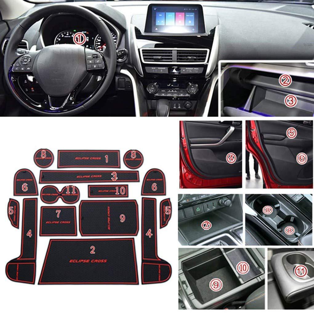 15pcs Set Porte Fente Pad Int/érieur de Voiture Porte-Porte Coupe Groove Nonslip Mat Remplacement pour Mitsubishi Eclipse Cross fgyhty