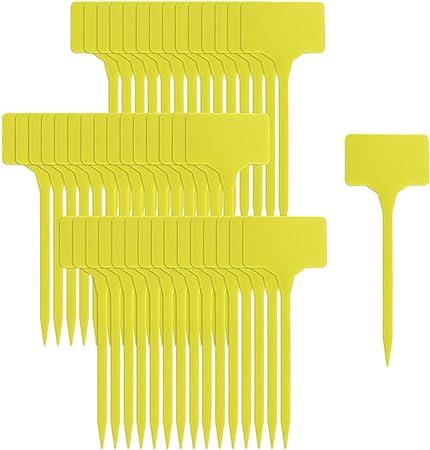 gelb 40 Stück Easy Work Plastik-Namensschilder