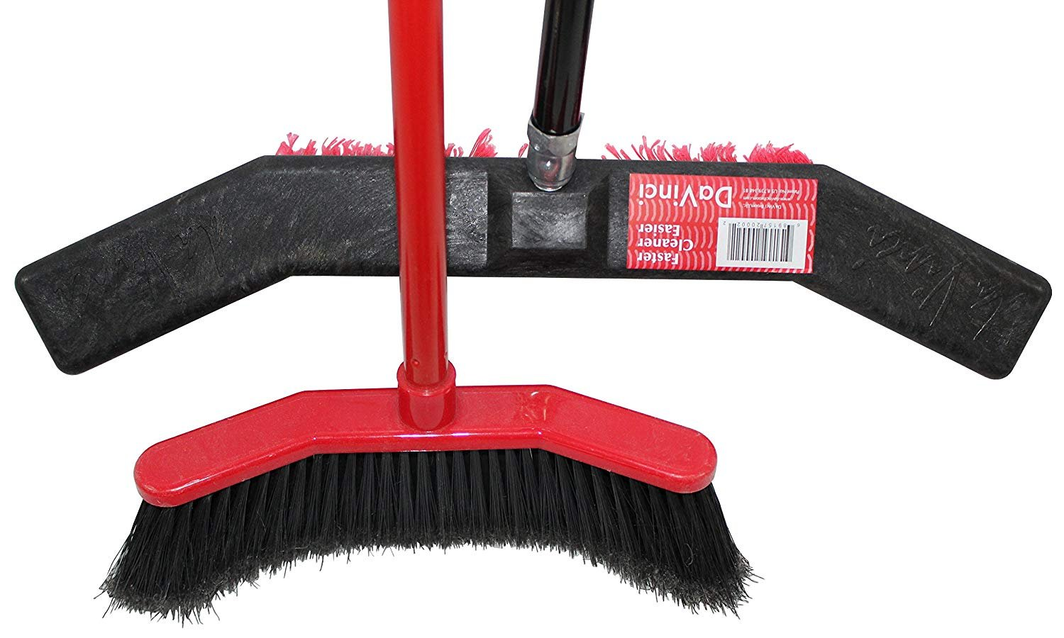 ROOT ASSASSIN House Broom & Push Broom, Keeps Debris Inside Broom, Best for Sweeping Kitchen Floors, Patios, Garages, Shops, Tile, Large Areas, and Wood Floors. Durable, Large, Light (Combo Pack)