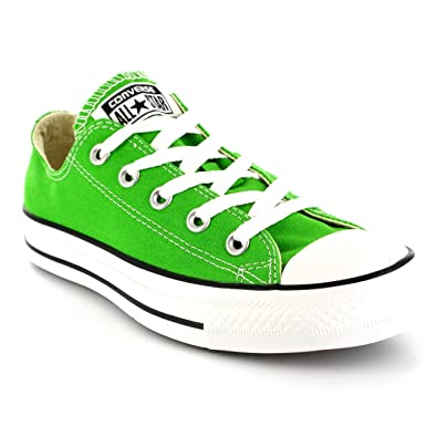 Image Unavailable. Image not available for. Color  Converse Womens All Star  Chuck Taylor Ox Lace Up Low Top Canvas Sneakers - Jungle Green ecf4fbded