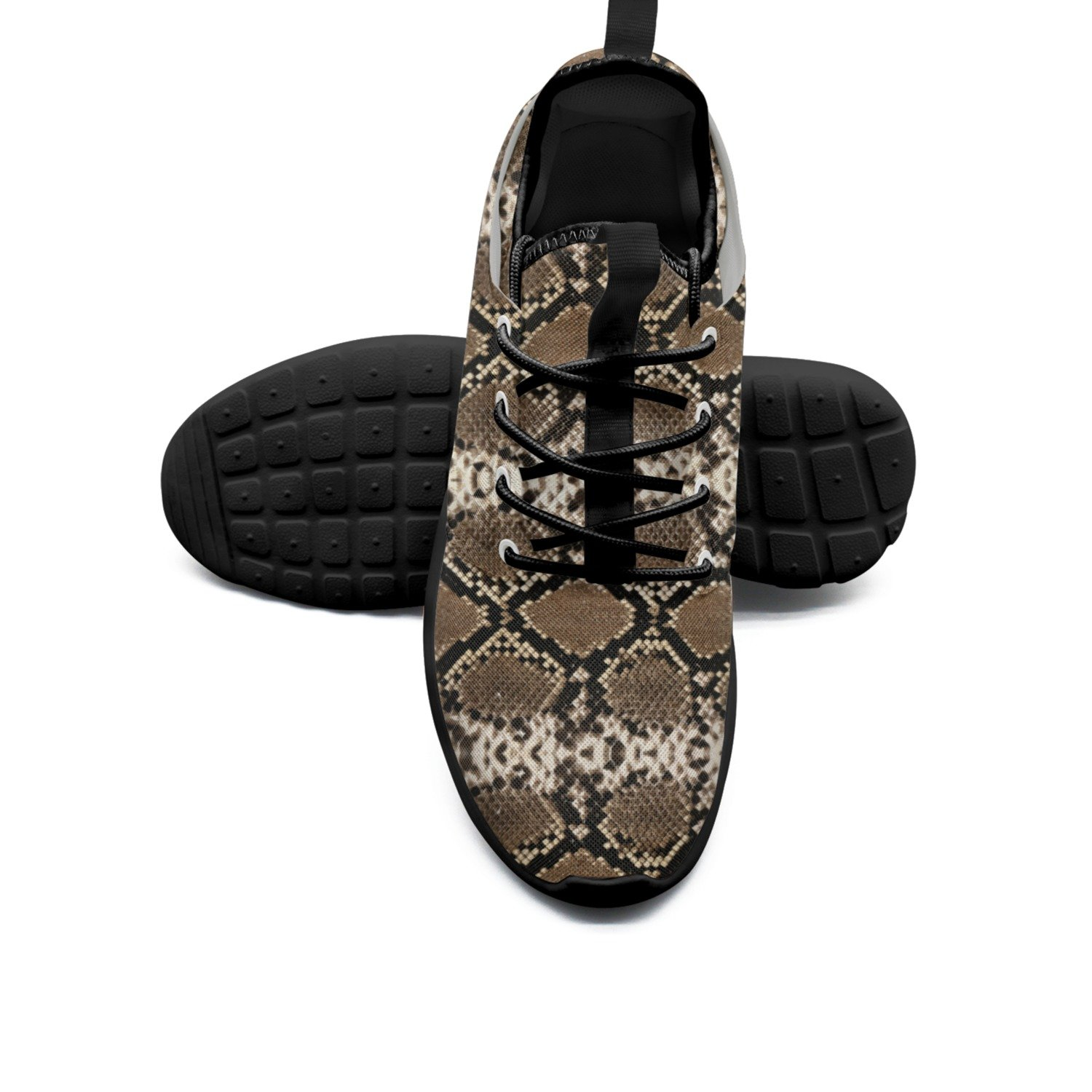 FUFGT Black Snake Skin Mens Neutral Running Shoes Cool Comfortable
