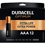 Duracell Optimum AAA Batteries | 12 Count Pack | Lasting Power Triple A Battery | Alkaline AAA Battery Ideal For Household An