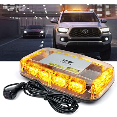 "[Upgraded]Lumenix Rooftop Strobe Light, Emergency Safety Hazard Warning Beacon Lights 12"" LED Mini Strobe Light Bar w/Magnetic Base for Trucks Postal Snow Plow Cars Construction Vehicles(Amber/Yellow): Automotive [5Bkhe0104490]"
