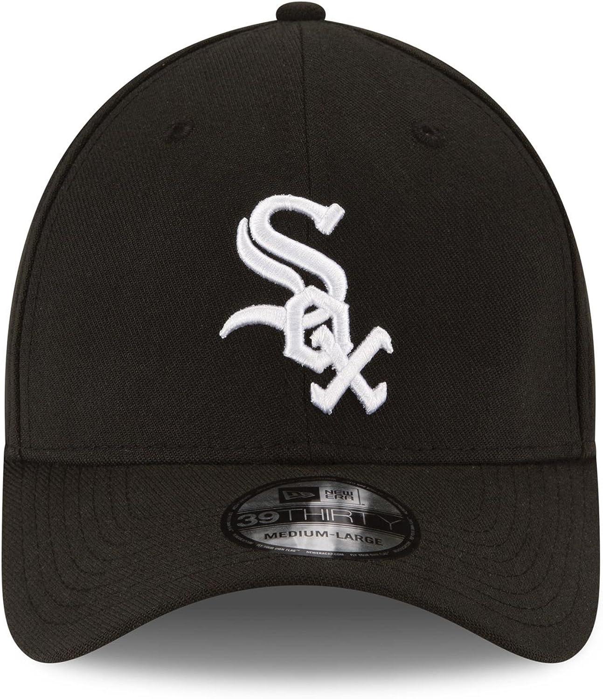 MLB Chicago White Sox Team Classic Game 39Thirty Stretch Fit Cap Black Medium//Large