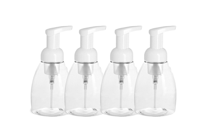Destino Aceites 8 oz dispensador de jabón dispensador de bomba bottle-4 Pack- Calidad de Aceite Esencial, sin BPA Free- diseño Mejorado Foamer: Amazon.es: ...