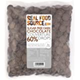 RealFoodSource Sugar Free 60% Dark Chocolate Couverture Drops 500g