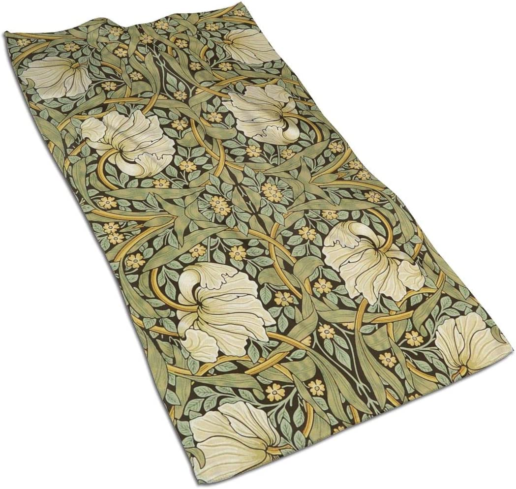 antcreptson William Morris Art Nouveau Hand Towels Sea Ocean Wave Bathroom Towel Ultra Soft Highly Absorbent Multipurpose Towels for Hand,Face,Gym,Sports Home Decor, 16x30 in
