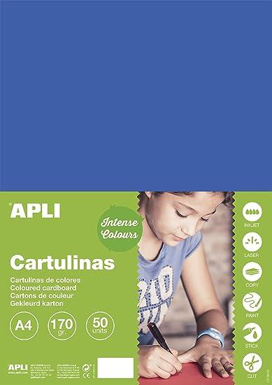 APLI 16498 50 fogli 170 g Cartoncino vaniglia A4