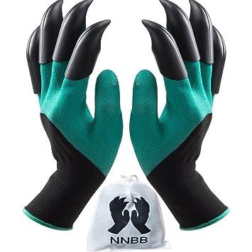 best gardening gloves. Garden Gloves With Fingertips Claws Quick\u2013 Great For Digging Weeding Seeding Poking -Safe Best Gardening
