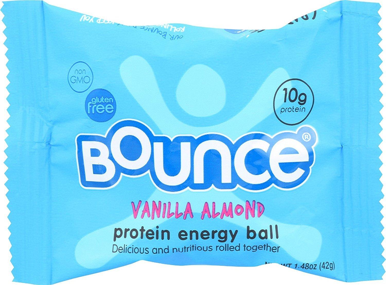 Bounce Energy Balls - Vanilla Almond - Case Of 12 - 1.48 Oz. by Bounce