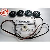 PS373088 NEW FACTORY ORIGINAL OEM FSP WHIRLPOOL KENMORE MAYTAG ROPER ESTATE KITCHENAID MAGIC CHEF CLOTHES DRYER REPAIR KIT ( Includes (1) 661570 Belt (4) 3396802 Rollers (1) 3388672 Idler (8) 690997 Tri Rings (1) 233520 Washer (1) 279909 Instruction Sheet
