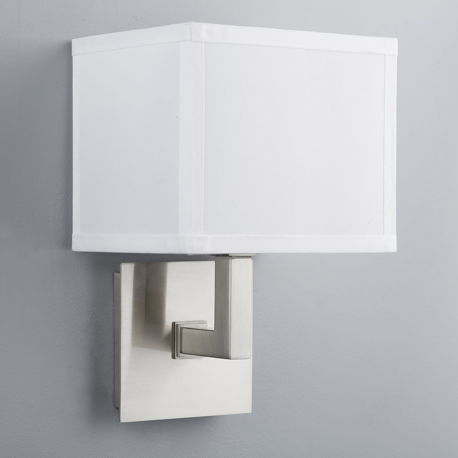 Sofia wall sconce one light lamp brushed nickel with white fabric sofia wall sconce one light lamp brushed nickel with white fabric shade linea di liara ll wl350 1 bn amazon amipublicfo Gallery