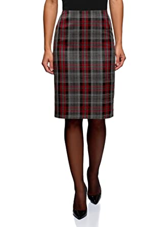 9abe7dd39b49 oodji Collection Femme Jupe avec Fente Arrière  Amazon.fr  Vêtements ...