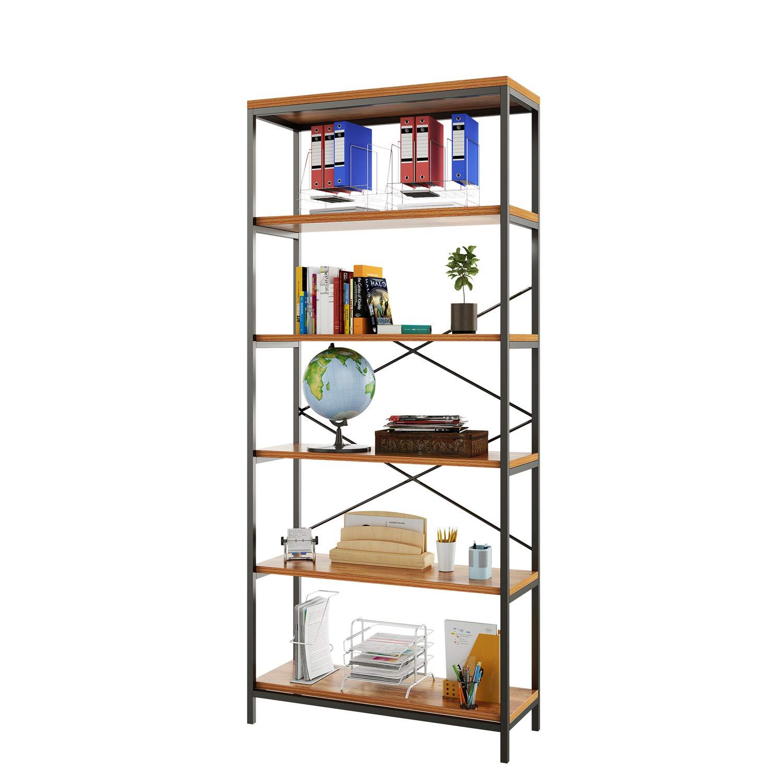 alpha-grp.co.jp 3 Shelf Bookcase Bookshelf Industrial Style Metal ...