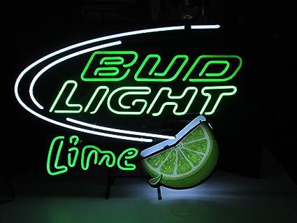 """New Bud Light Lime Bar Beer Light Lamp Neon Sign 17/"""""""