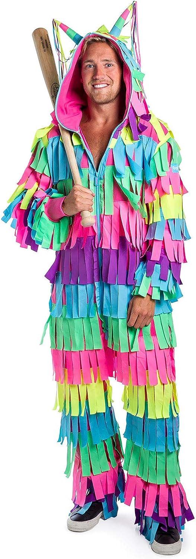 Tipsy Elves' Men's Pinata Costume - Bright Colorful Halloween Jumpsuit