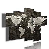 duudaart quadro moderno astratto 93 multilivello 3d quadri moderni mondo cartina geografica mappamondo