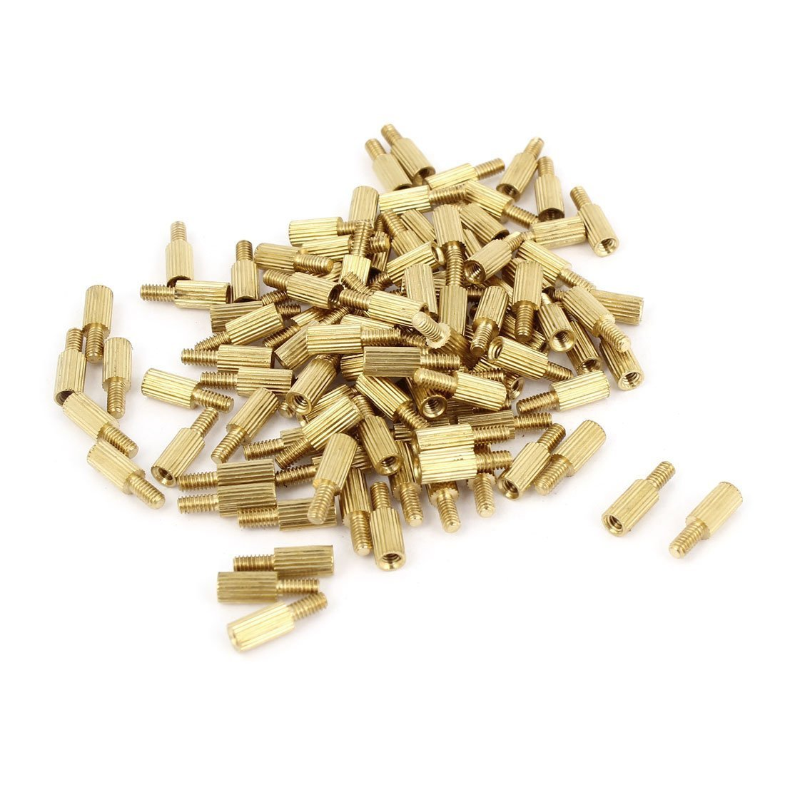 uxcell Male to Female Threaded PCB Board Brass Pillars Standoff M2x6mm 100Pcs a14082100ux0061
