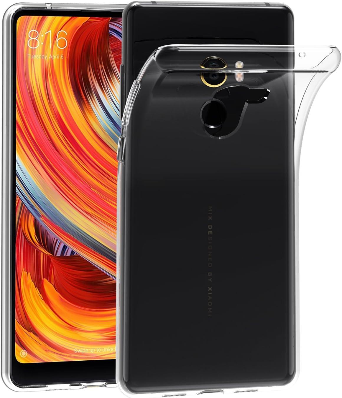 ivoler Funda Carcasa Gel Transparente para Xiaomi Mi Mix 2, Ultra Fina 0,33mm, Silicona TPU de Alta Resistencia y Flexibilidad
