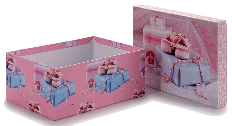 ArteRegal Caja, Diseño Bebé, Cartón Forrado, Rosa, 9.5x16.0x22.5 cm: Amazon.es: Hogar