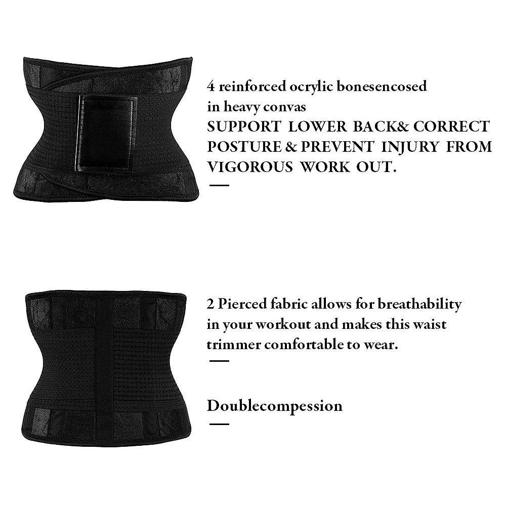 c81dadba941 Amazon.com  MUKATU Waist Trainer Belt for Women - Waist Cincher Trimmer -  Slimming Body Shaper Belt - Girdle Sport Girdle Belt  Sports   Outdoors