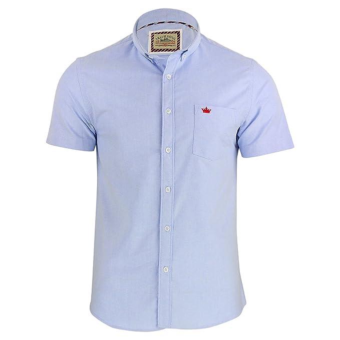 9e7905efc62211 Uomo Brave Soul Senato Cotone Camicia Coi Bottoni Maniche Corte Oxford Con  Colletto Top: Amazon.it: Abbigliamento