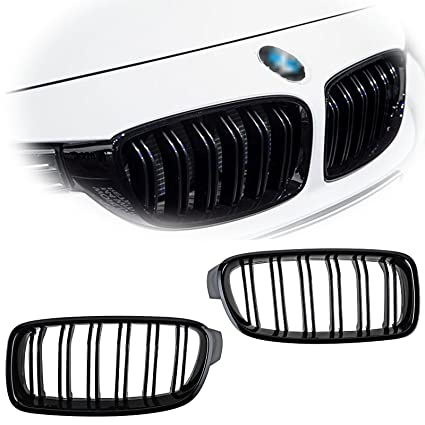 Amazon Com X Xotic Tech Glossy Black Front Kidney Grille Grill For