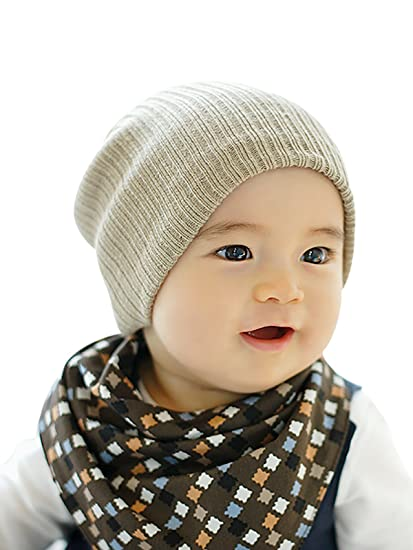 4ffb86690082 Amazon.com  Durio Unisex Baby Knitted Beanies Boy Girl Cute Cotton ...