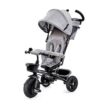 Kinderkraft Bicicleta Triciclo para bebés Aveo Bici o Silla de paseo con Pedales Volante de Padres Campana Capota Bolso Cup Holder Ruedas ...