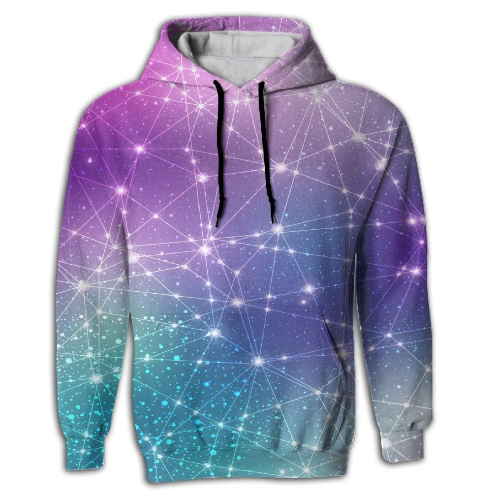 FUSALIN Space Cosmic ConstellationUnisex 3D Printed Sweatshirt Casual Pullover Hoodie With Big Pockets