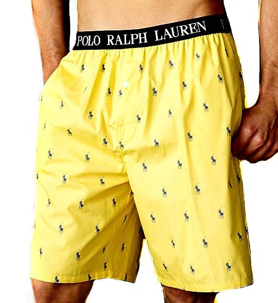 RALPH LAUREN MULTI-HORSE pijama para hombre pantalones cortos de talla mediana - del real