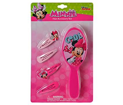 Disney Minnie Mouse Hair Brush Girl/'s 7 In.