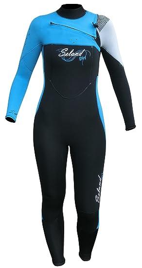 Seland DUNA traje de neopreno surf chica. 5/4/3 mm: Amazon ...