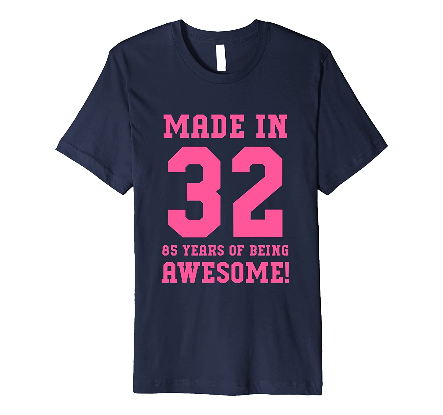 85th Birthday Gift Made In 1932 Awesome Pink Fitted-PL