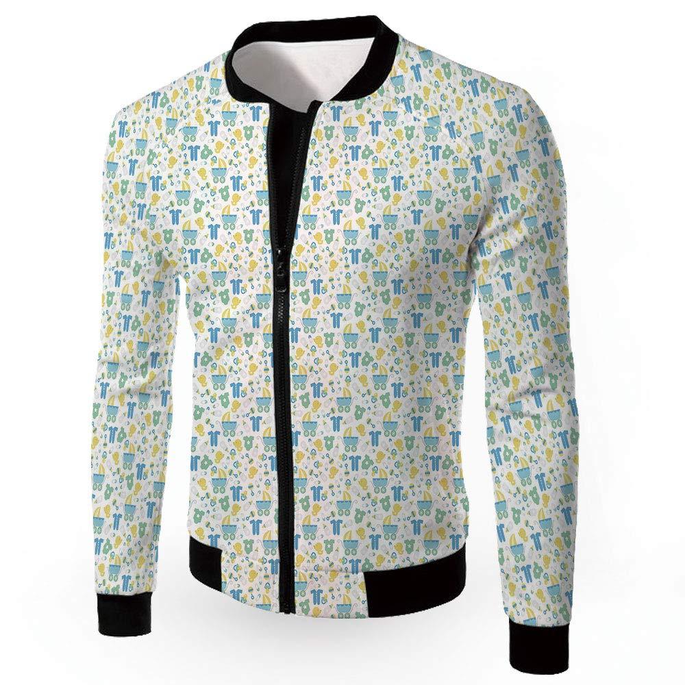Multi05 XXXLarge iPrint Windbreaker Jacket,Baby,Zipper Sportswear Patchwork Long Sleeve Coat,Newborn SLE