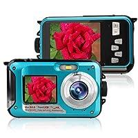 Caméra sous-Marine Caméra vidéo numérique DE 24 MP Caméscope Double Ecrans Ecrans LCD Double Couleur FHD 1080p Mono-enregistreur Libre-Photo Enregistreur vidéo Batterie Rechargeable