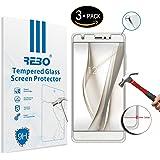 BQ Aquaris X / X Pro Protector cristal templado - RE3O® 3 x Protector de pantalla cristal templado vidrio templado para BQ Aquaris X / X Pro 5,2'' pulgadas, Fácil de instalar y sin burbujas de aire, Borde redondo elegante 2,5D, Dureza 9H, Alta transparencia