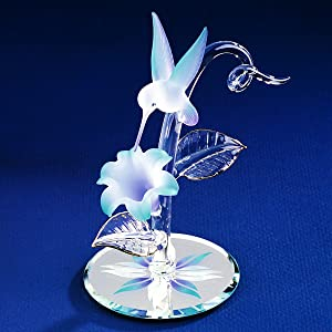 Orchid Flower Plant Support Glass Bird Ornament Stakes