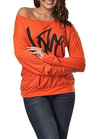 Simple-Fashion Primavera y Otoño Mujeres Sudaderas Casual Carta Impresión Tops T-Shirt Sweatshirt Suéter Jumpers Atractivo Moda Camisetas de Manga Larga ...